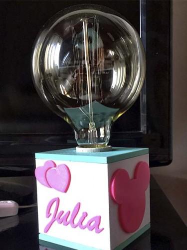 Luminária cubo 3D