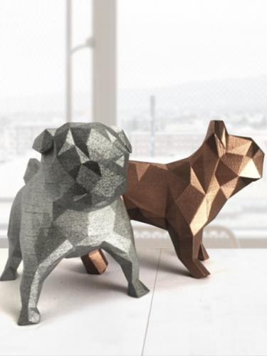 Pug geométrico 3D