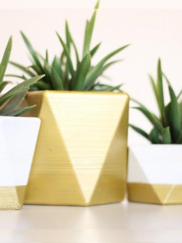 Trio de vasos gold