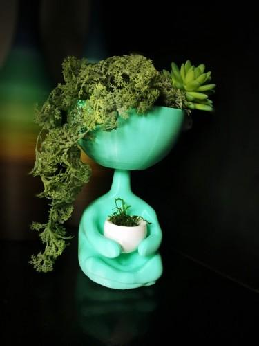 Vaso bonequinho meditando - Grande