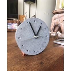 Relógio Redondo Cinza