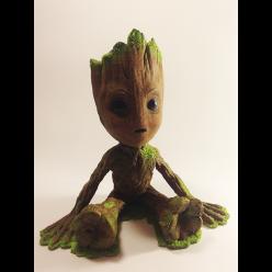 Baby Groot - Estátua Sentada