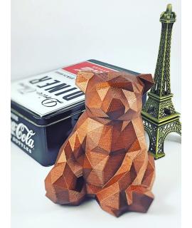 Urso geométrico 3D
