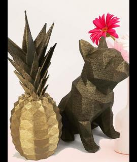 Bulldog + Abacaxi 3D