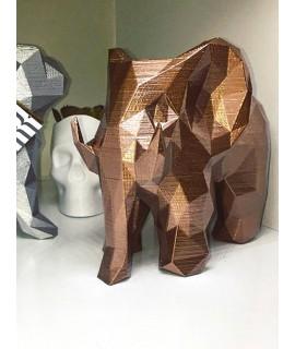 Elefante Geométrico 3D