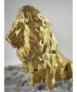 Leão geométrico 3D