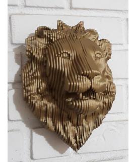 Escultura de parede Leão