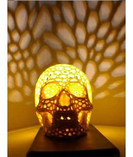 Caveira Voronoi - Luminária
