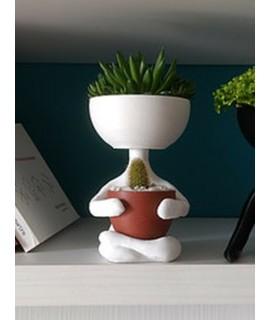 Vaso - Bonequinho Meditando