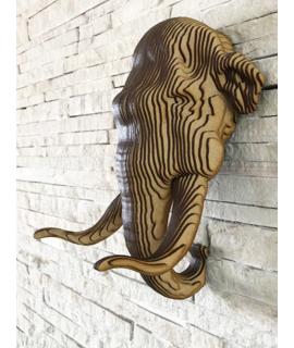 Escultura de parede - Mamute