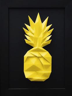 Quadro 3D Abacaxi