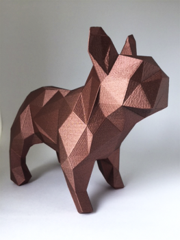 Bulldog geométrico 3D